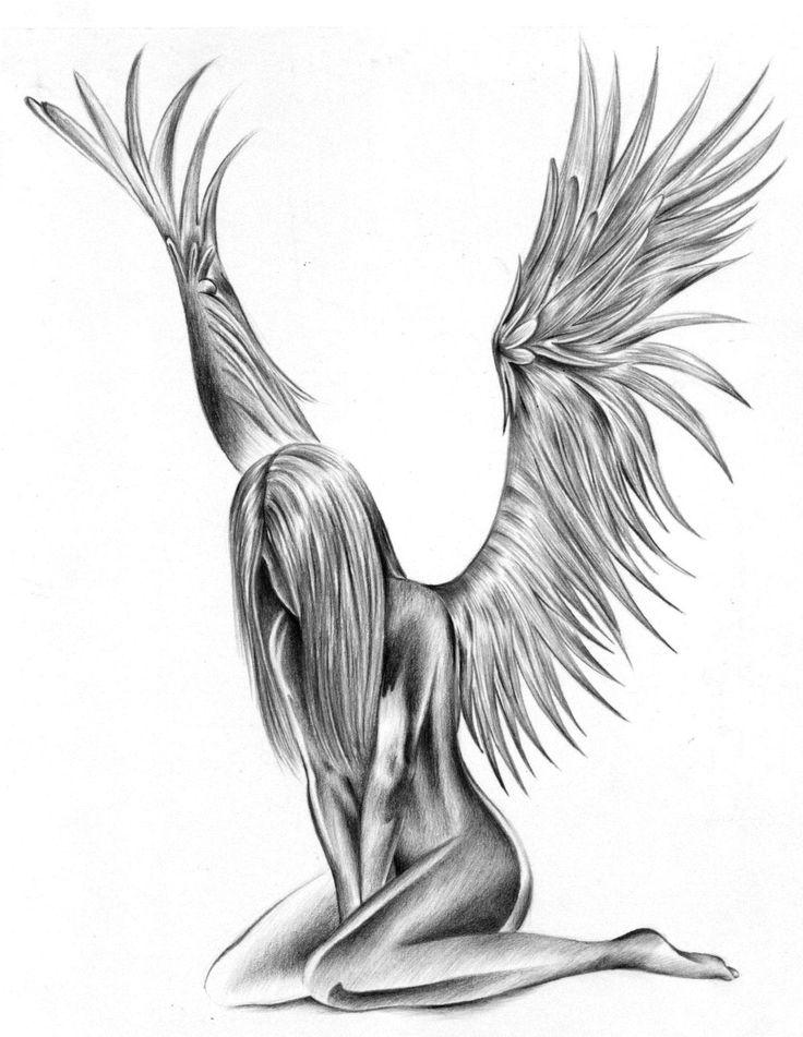 Fallen Angel clipart grey Design Fallen Tattoo Fallen Sad