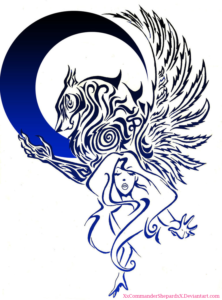Fallen Angel clipart ink Explore by tribalangel Angel