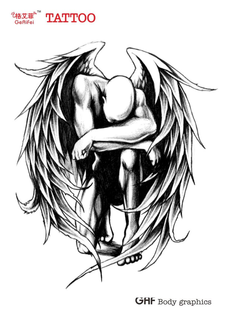 Fallen Angel clipart outline Waterproof Fallen High best Angel