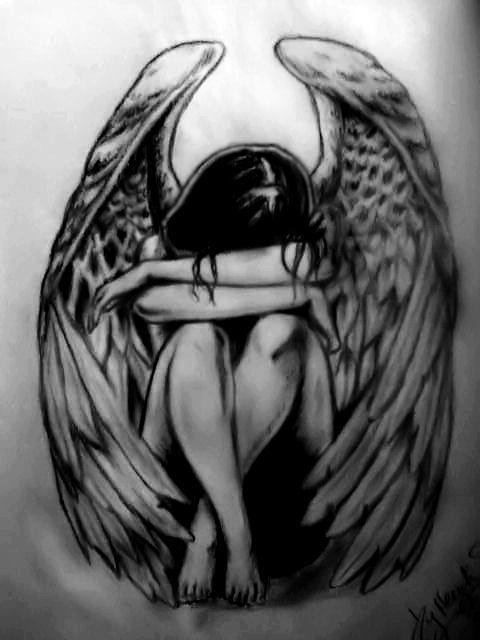 Fallen Angel clipart outline Poem: Angels The Fallen The