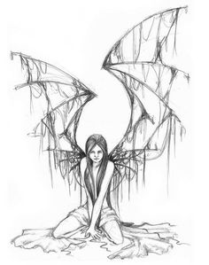 Fallen Angel clipart outline Find simple cliparts you this