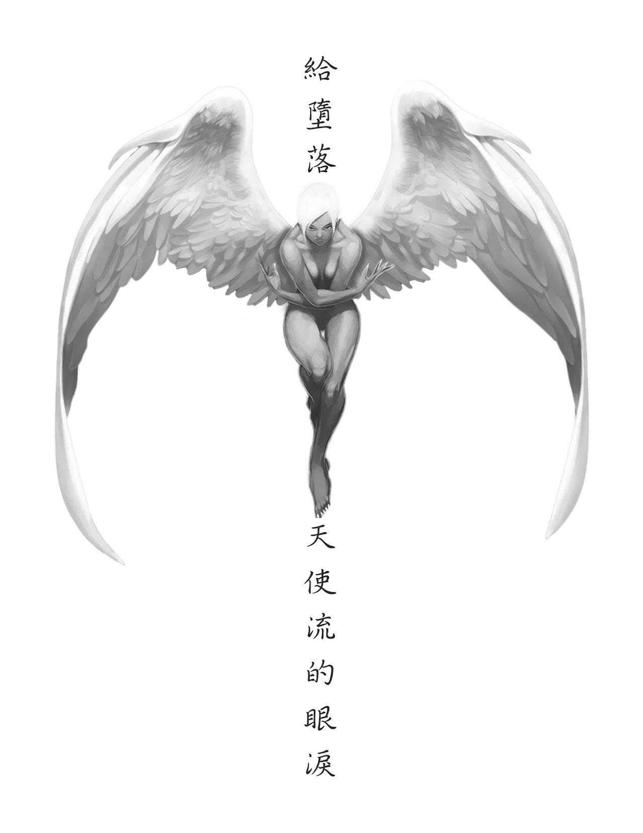 Fallen Angel clipart outline Tears Deviantart 1280x1659 Angel