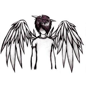 Drawn angel easy draw #10