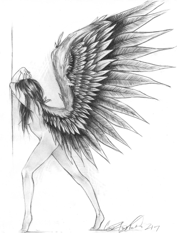 Fallen Angel clipart pencil drawing This A drawings Art Google
