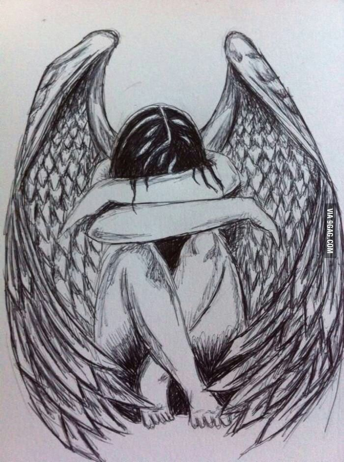 Fallen Angel clipart pencil drawing & and Photographs Sketches &