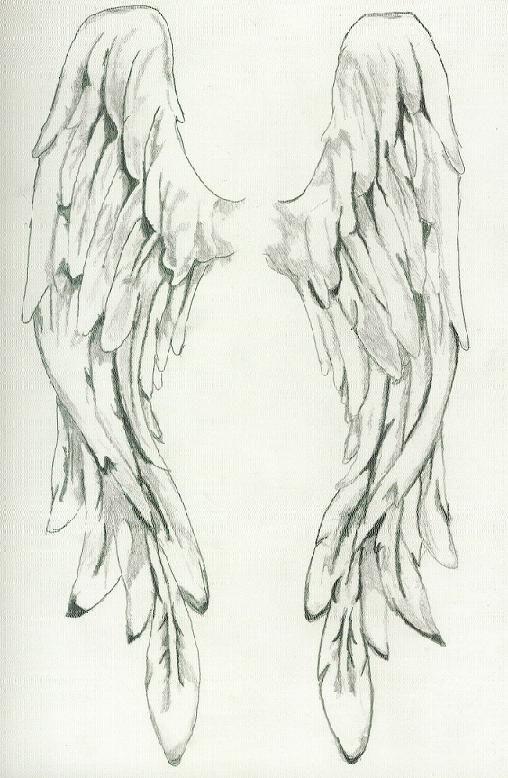 Drawn angel angel wing  drawing angel Angel Pinterest
