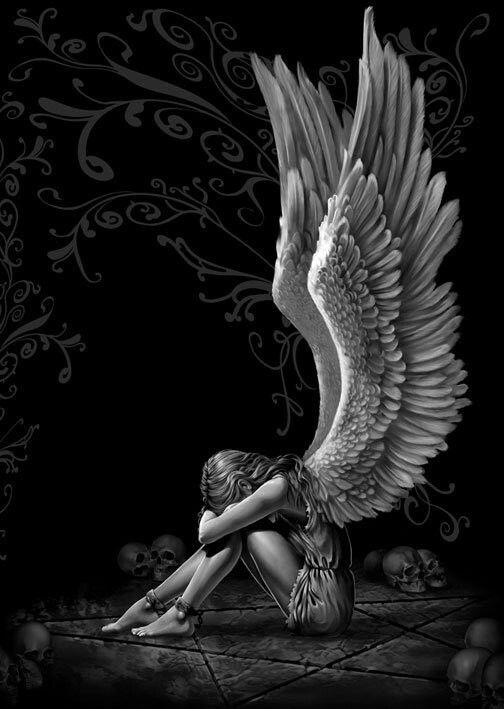 Drawn sad angel Angel ideas I guardian tattoo