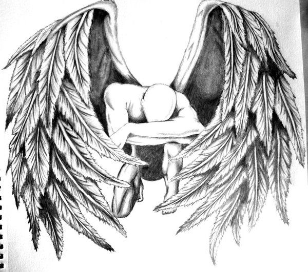 Drawn skeleton angel Tattoo The best Fallen angel