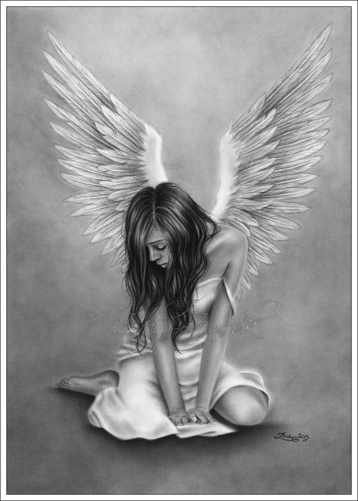 Drawn angel sadness Drawings Zindy deviantart Art