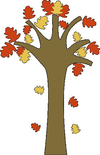 Tree clipart autumn leaves #9