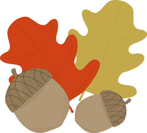 Acorn clipart border And Leaves Art Acorn and