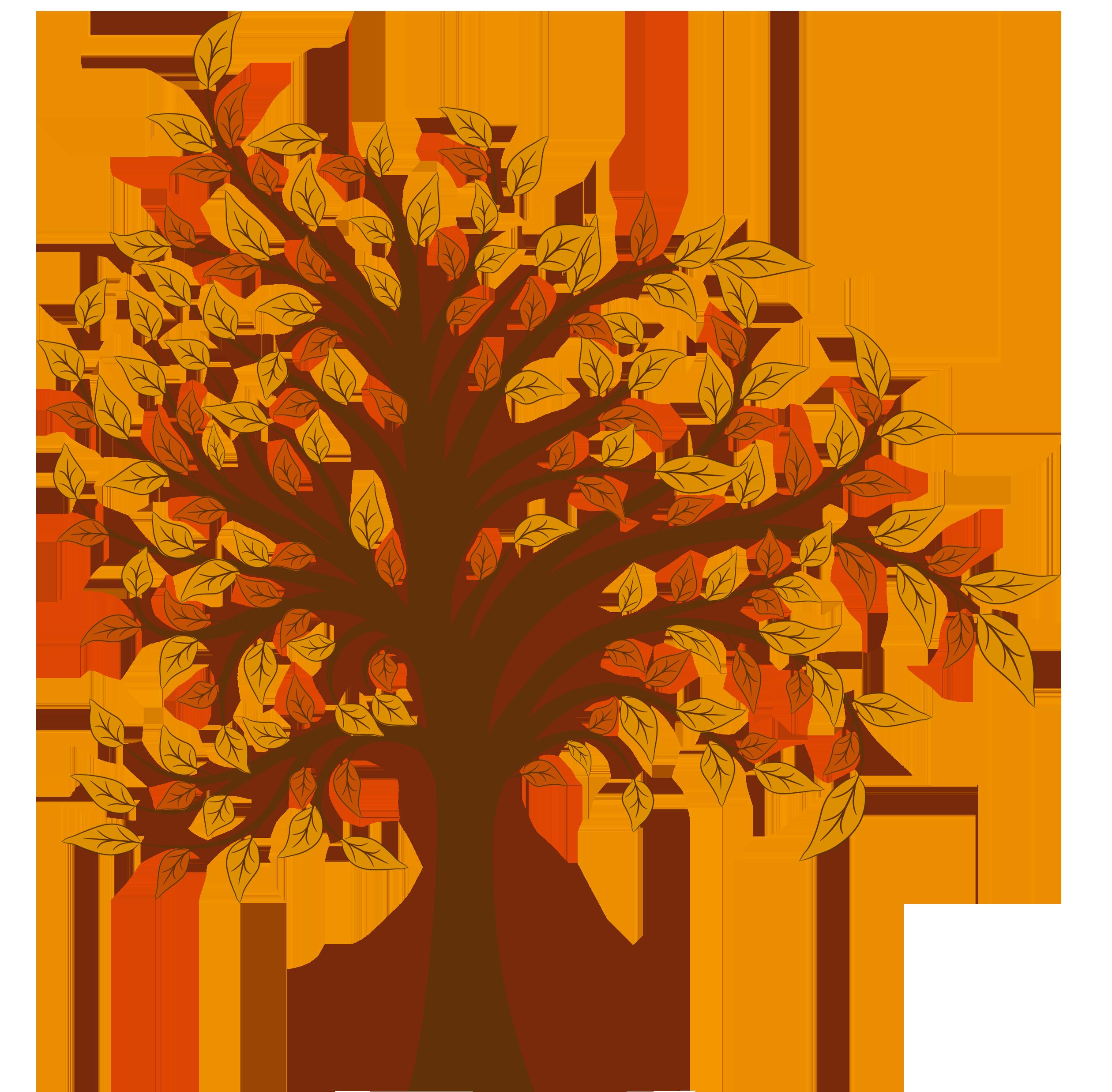 Tree clipart autum #10