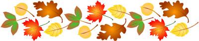 Leaves clipart boarder Art Border autumn border clip