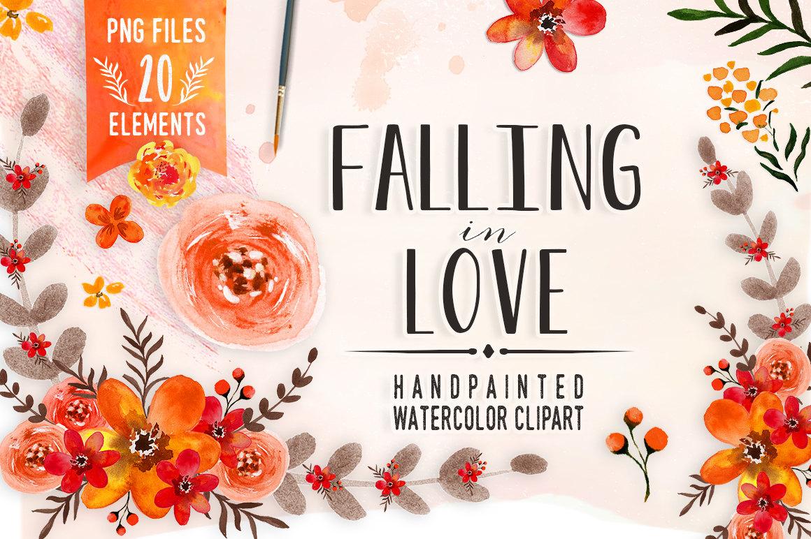 Orange Flower clipart fall flower Clip floral art clip