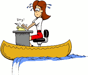 Canoe clipart funny Office Funny Typing cliparts Clipart