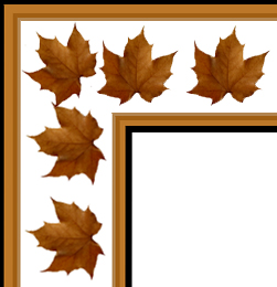 Leaves clipart corner Autumn corner Beautiful art &