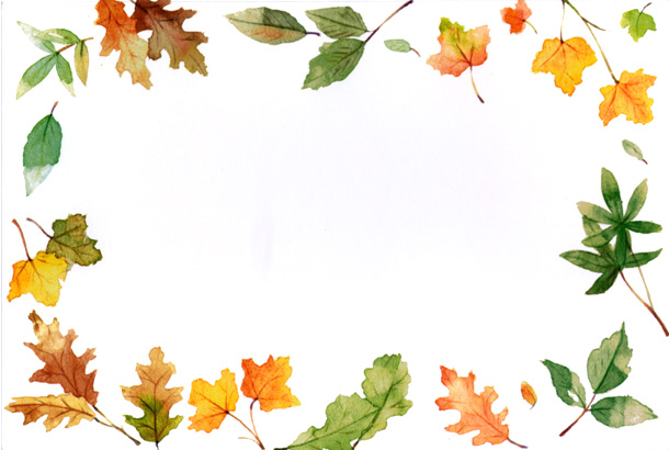 Leaves clipart boarder Clipart clip Fall border collection
