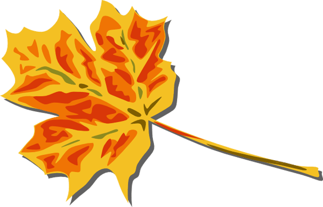 Leaves clipart colored #2