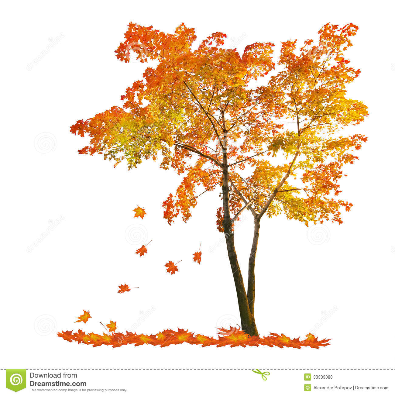 Tree clipart autumn leaves #3