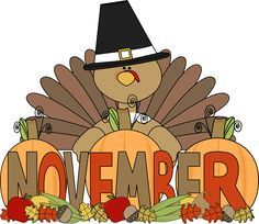 Thanksgiving clipart calendar Image turkey Clip October