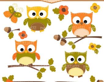 Owl clipart september Autumn Autumn September Clipart Owls