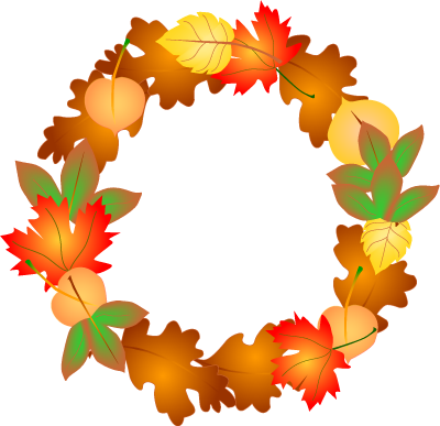 Wreath clipart thanksgiving Autumn danaspag Autumn clip Clipartix