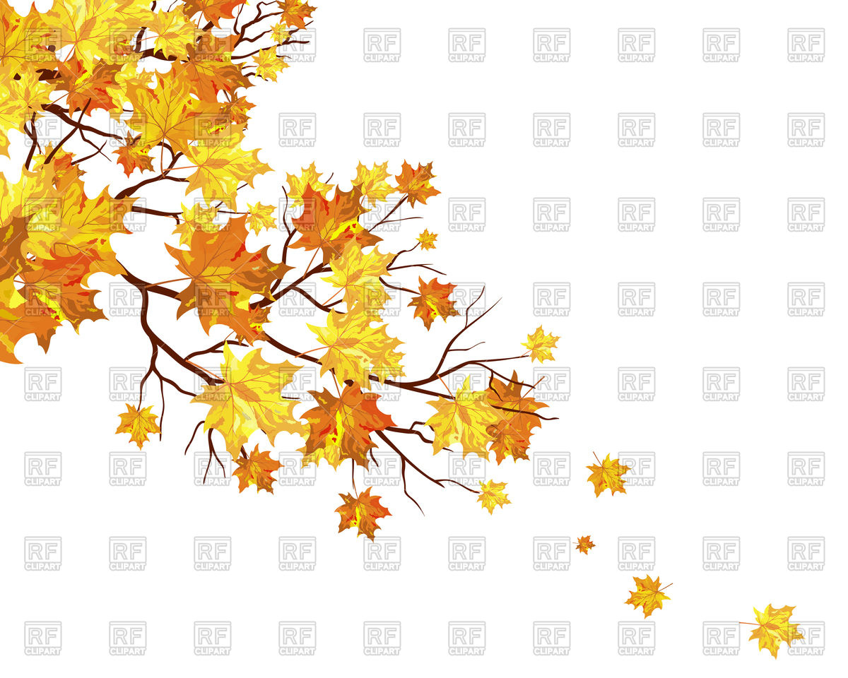 Branch clipart fall leaves And tree branch yellow clipart