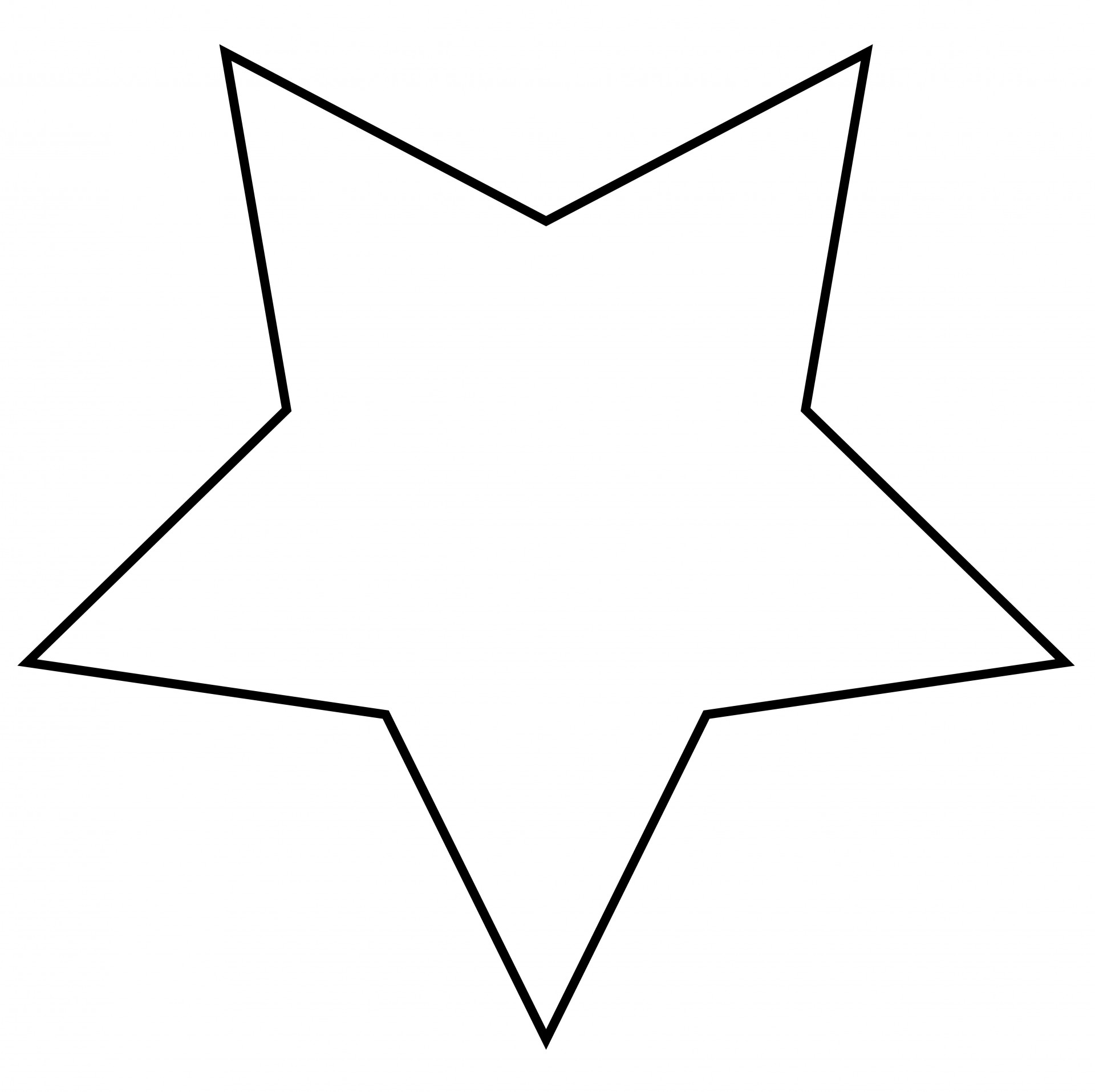 Stare clipart black and white Stock Outline Pictures Star Domain