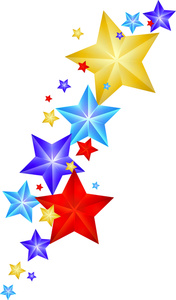 Falling Stars clipart Shooting Clipart Panda Clipart Colorful