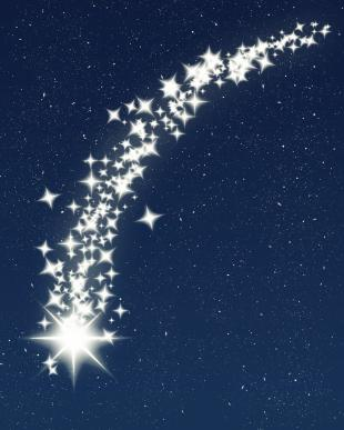 Moving clipart shooting star #2