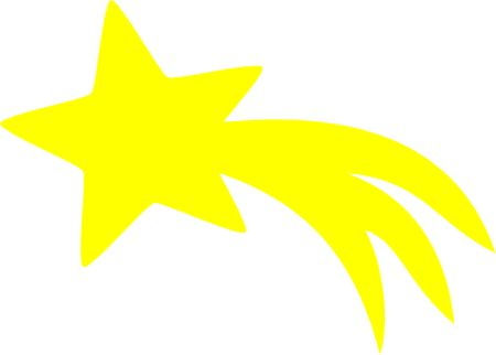 Shooting Star clipart shining star Yellow Clipart Star Shooting Clipart