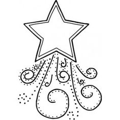 Shooting Star clipart outline Shooting Stencil star