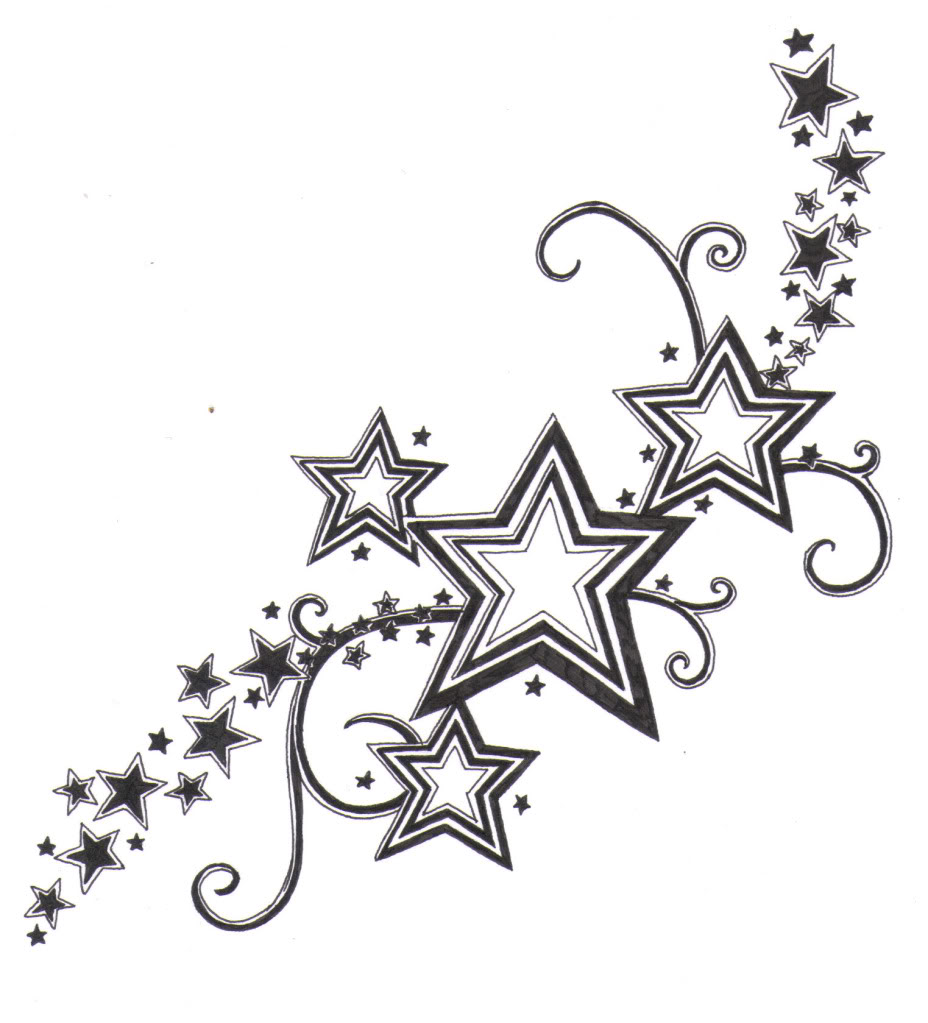 Falling Stars clipart bintang Star Shooting Stars Beautiful Tattoos