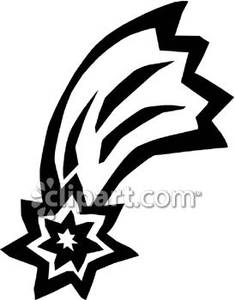 Shooting Star clipart single And Shooting Free Black White