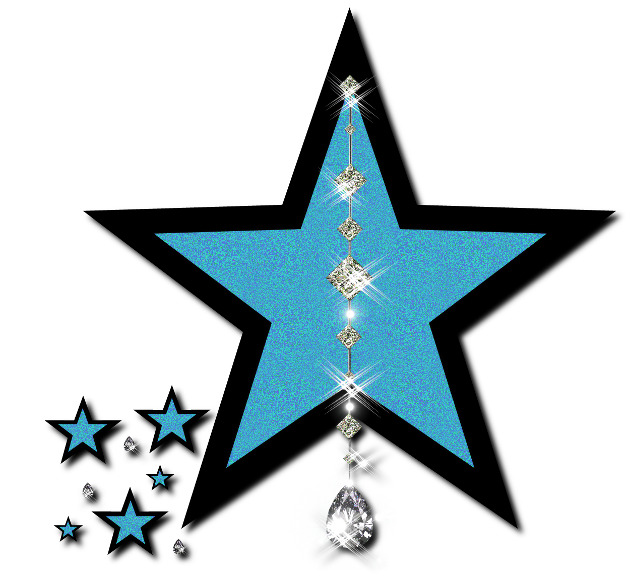 Falling Stars clipart blue star Pictures Pictures Clip Free Star