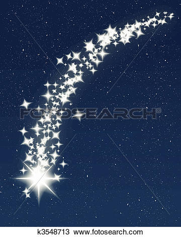 Falling Stars clipart blue star Of of Clipart shooting k7713340