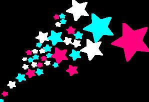 Falling Stars clipart border Clip Stars vector art Clip