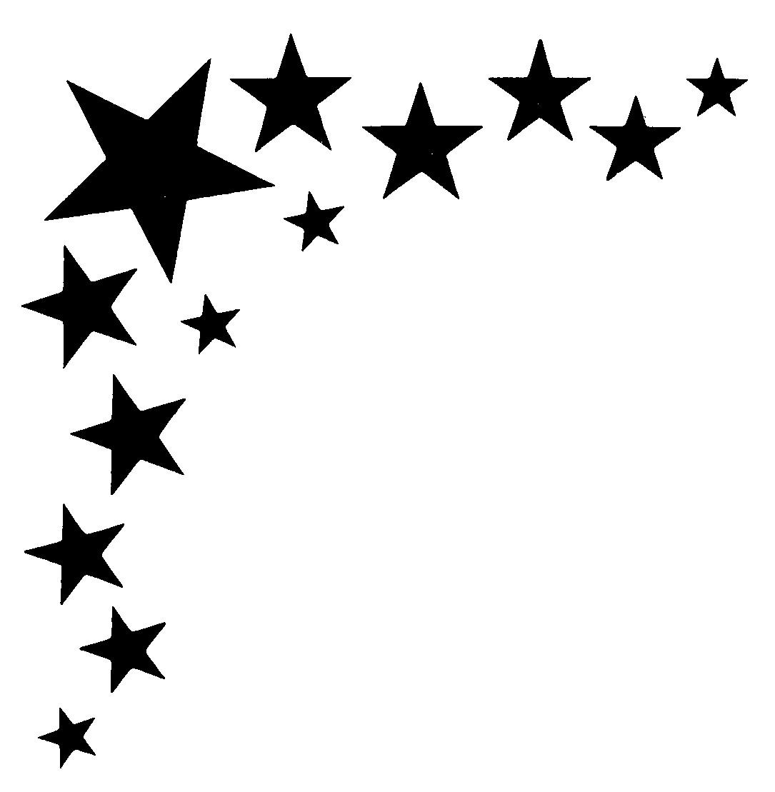 Falling Stars clipart border Thread! border Good (Sewing clipart