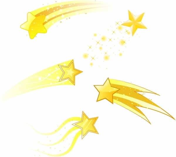 Shooting Star clipart shining star Stars commercial use  vector