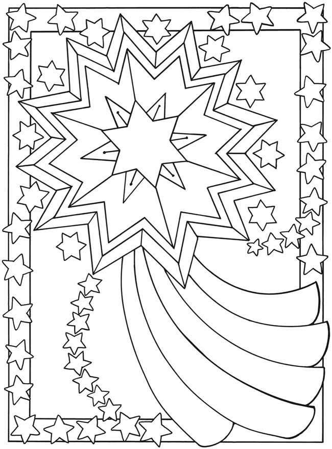 Moon clipart coloring book #1