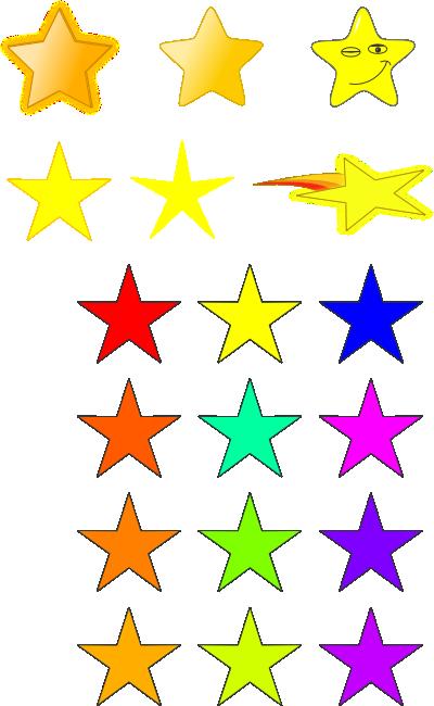 Falling Stars clipart colourful star Clip Kids Clipart Kids Stars