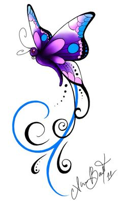 Falling Stars clipart colourful star Tattoo Shooting butterfly Star