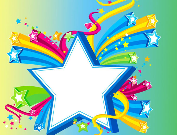 Falling Stars clipart colourful star Desktop For Wallpapers High Free