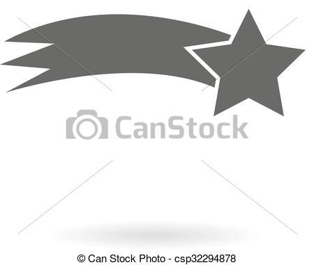 Shooting Star clipart comet (shooting of star grey Dark
