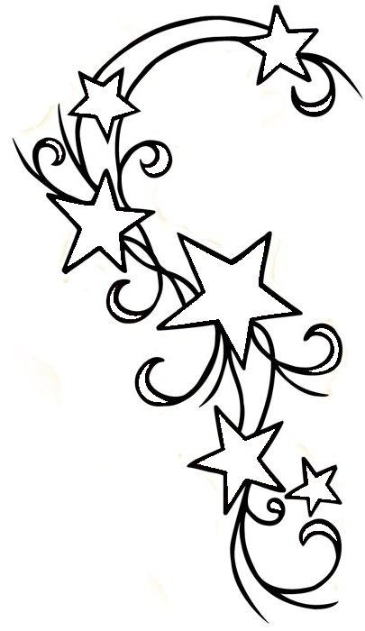 Falling Stars clipart cute Designs Best Star tattoo shoulder