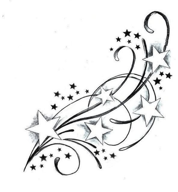 Falling Stars clipart cute Coole Best ideas Tattoo tattoos