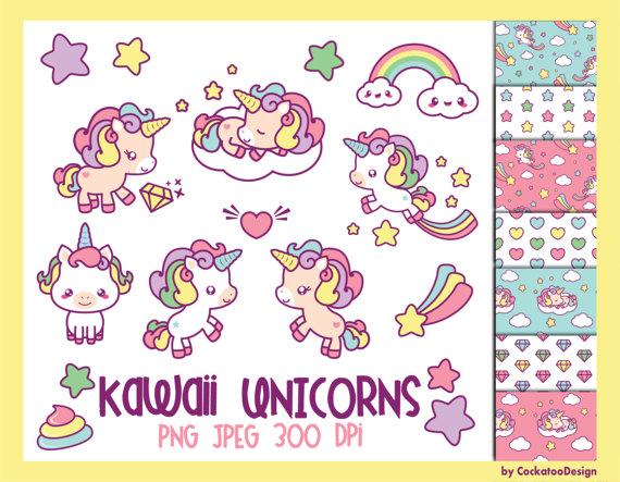 Falling Stars clipart cute SALE UnicornShooting unicorn OFF OFF