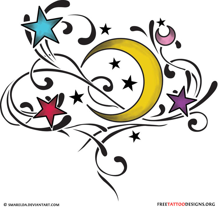 Shooting Star clipart dancing star Star Designs Shooting Tattoos and