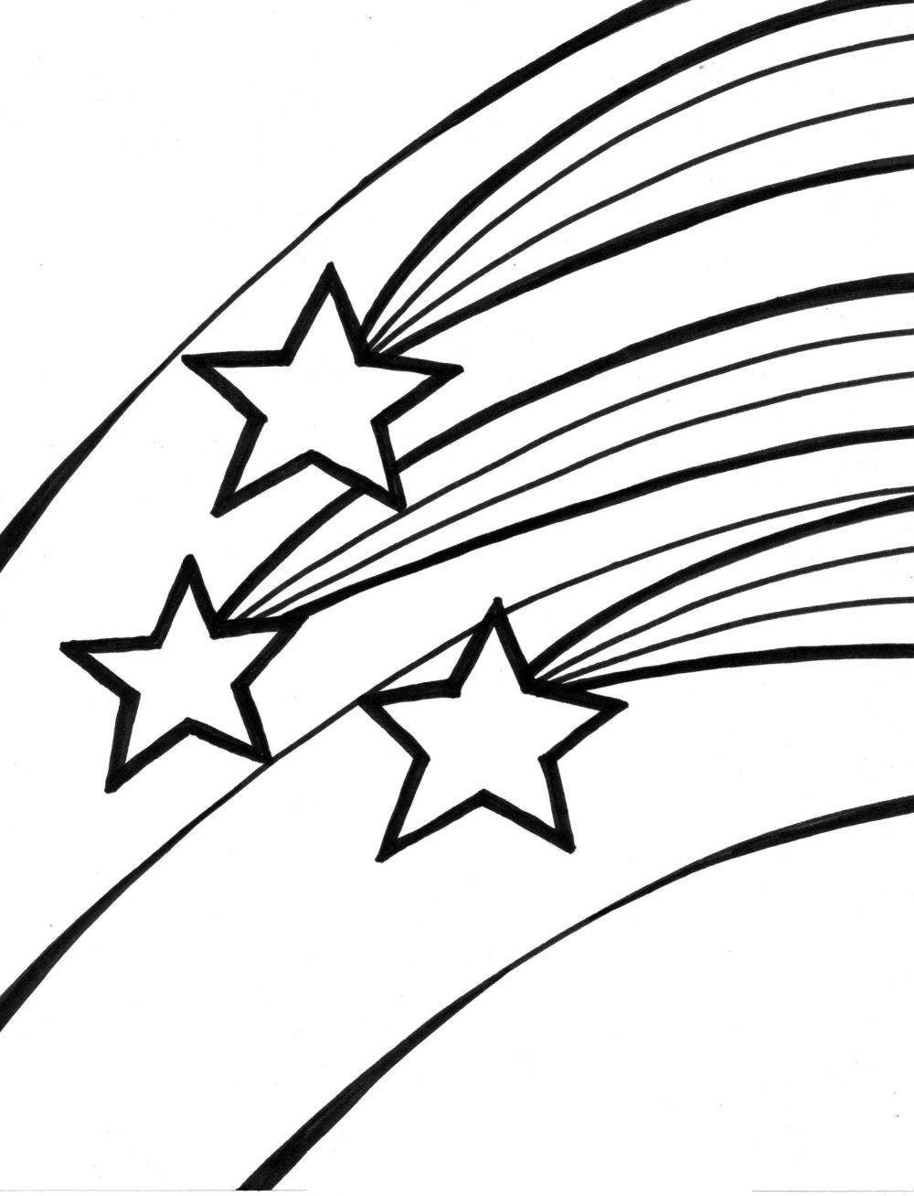 Shooting Star clipart drawn Com Coloring Star Outline #19961