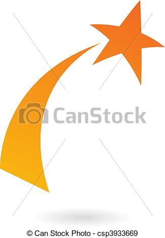 Orange clipart shooting star Orange Shooting Shooting shooting star